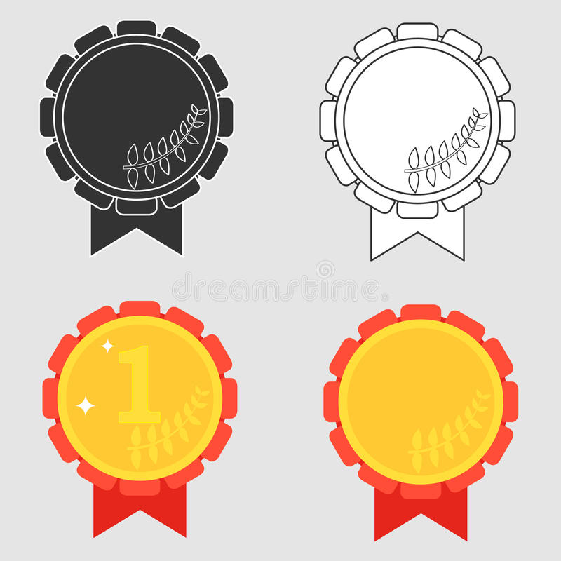 Αθλητικό μετάλλιο διανυσματική απεικόνιση