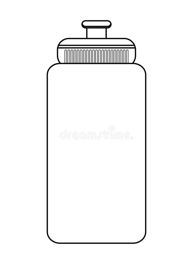 Αθλητικό μπουκάλι νερό ελεύθερη απεικόνιση δικαιώματος