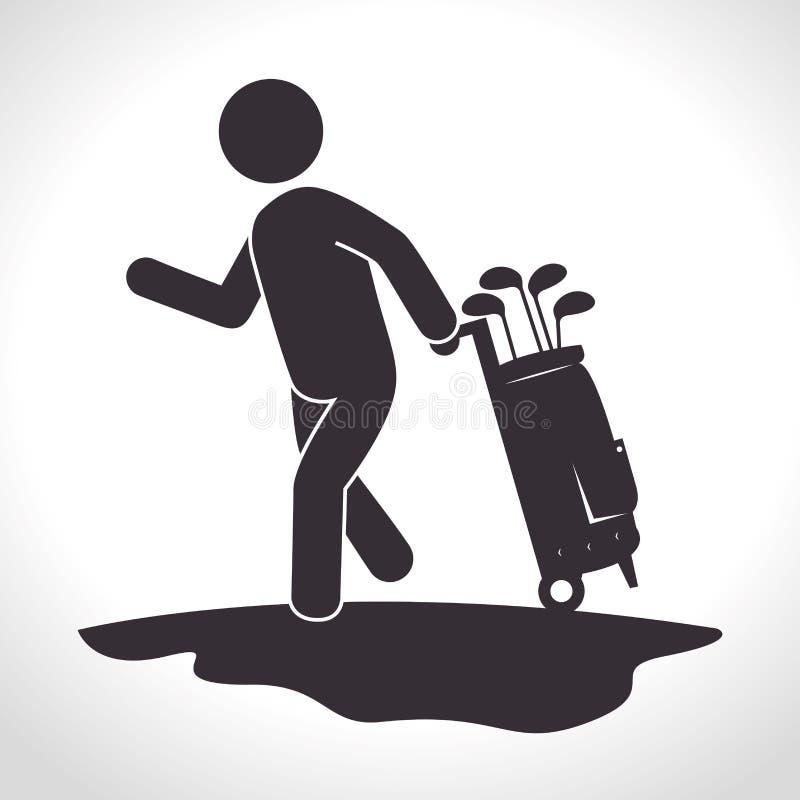 Download Αθλητικό παιχνίδι γκολφ κλαμπ γραφικό Απεικόνιση αποθεμάτων - εικονογραφία από γκολφ, αρσενικό: 62702397