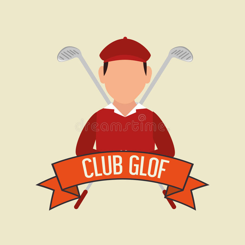 Download Αθλητικό παιχνίδι γκολφ κλαμπ γραφικό Απεικόνιση αποθεμάτων - εικονογραφία από υγιής, ενέργεια: 62702473