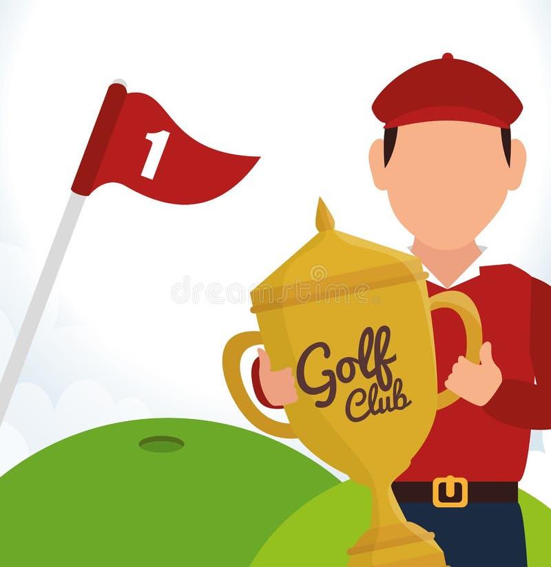 Download Αθλητικό παιχνίδι γκολφ κλαμπ γραφικό Απεικόνιση αποθεμάτων - εικονογραφία από ομάδα, εξοπλισμός: 62702554