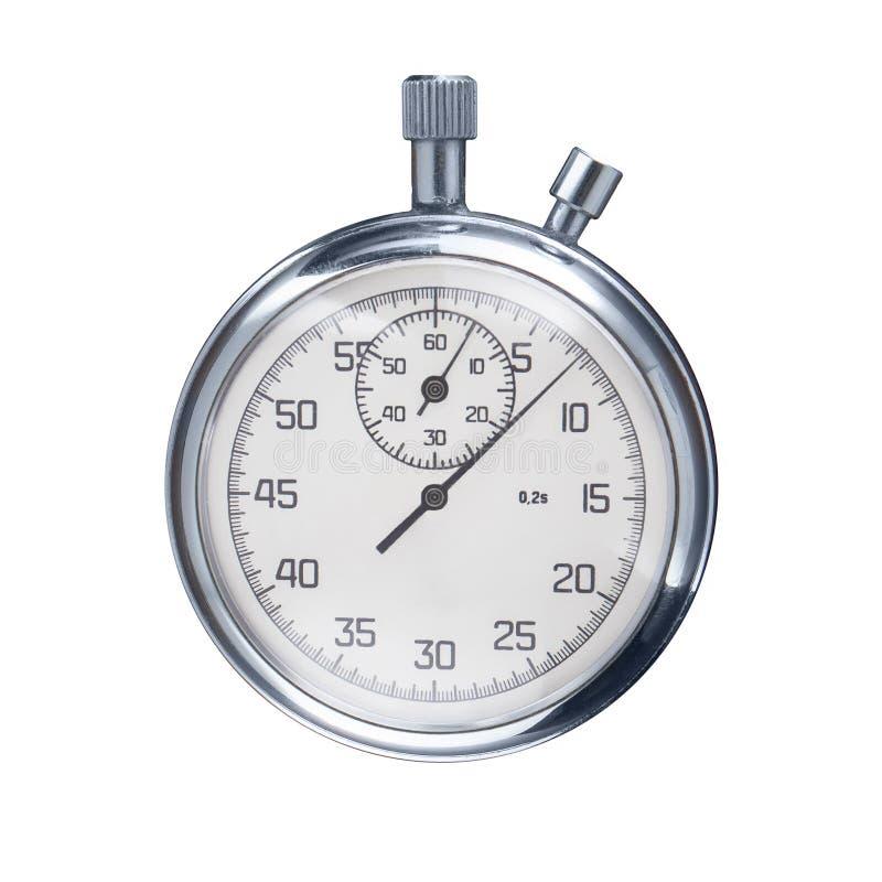 Αθλητικό χρονόμετρο με διακόπτη που απομονώνεται σε ένα άσπρο υπόβαθρο στοκ εικόνες με δικαίωμα ελεύθερης χρήσης