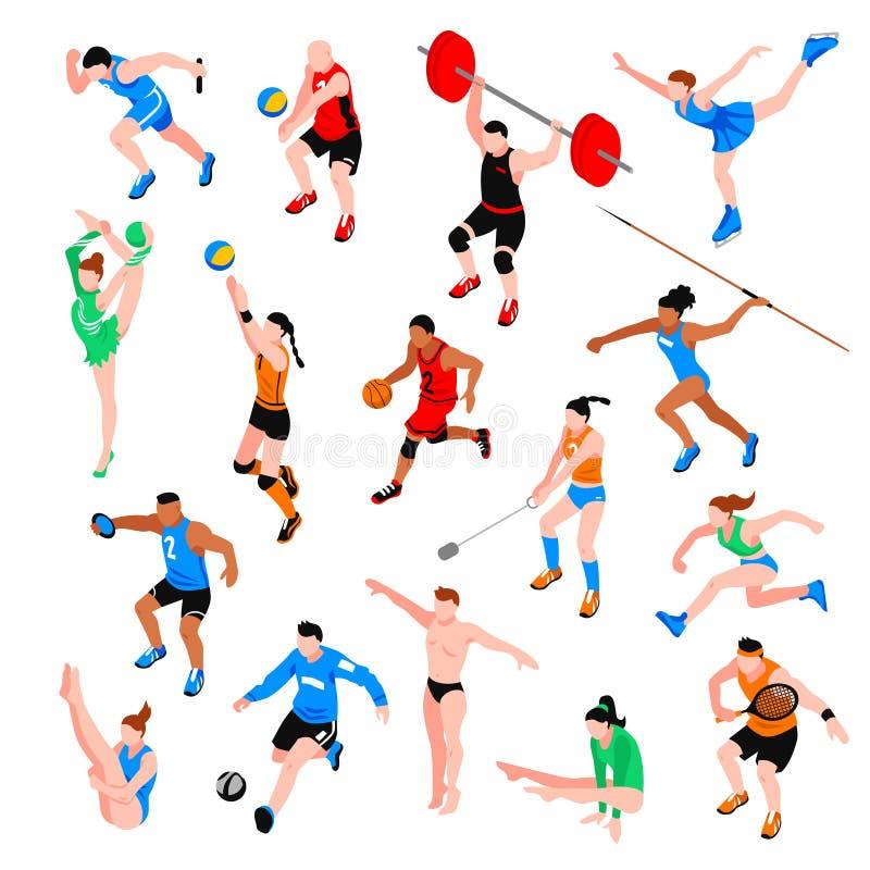 Αθλητικό Isometric σύνολο ελεύθερη απεικόνιση δικαιώματος