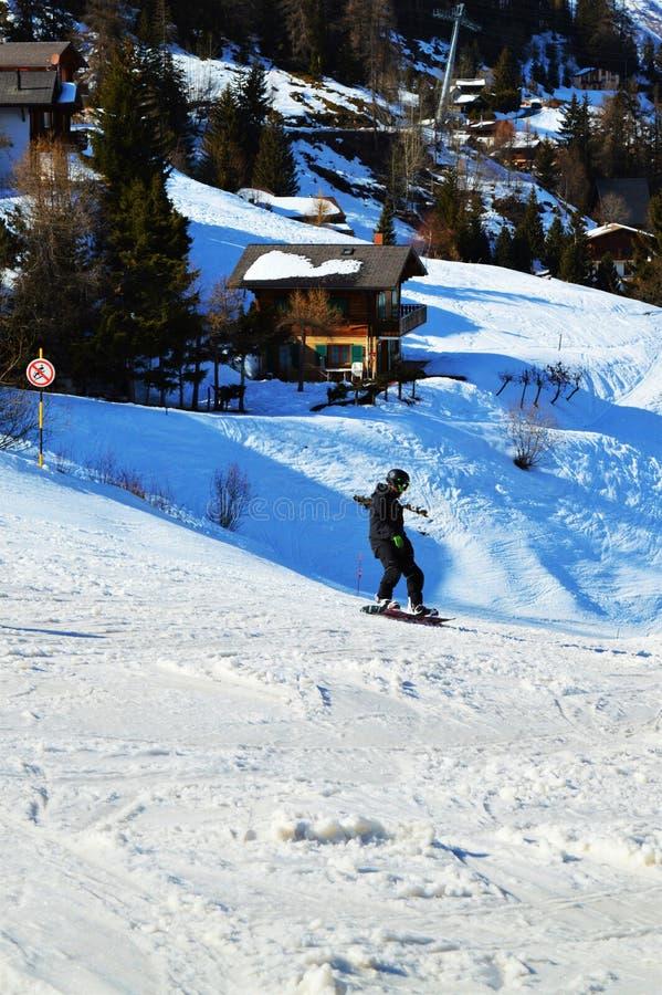 Αθλητισμός και Ελβετία, ελβετικές Άλπεις στοκ φωτογραφία