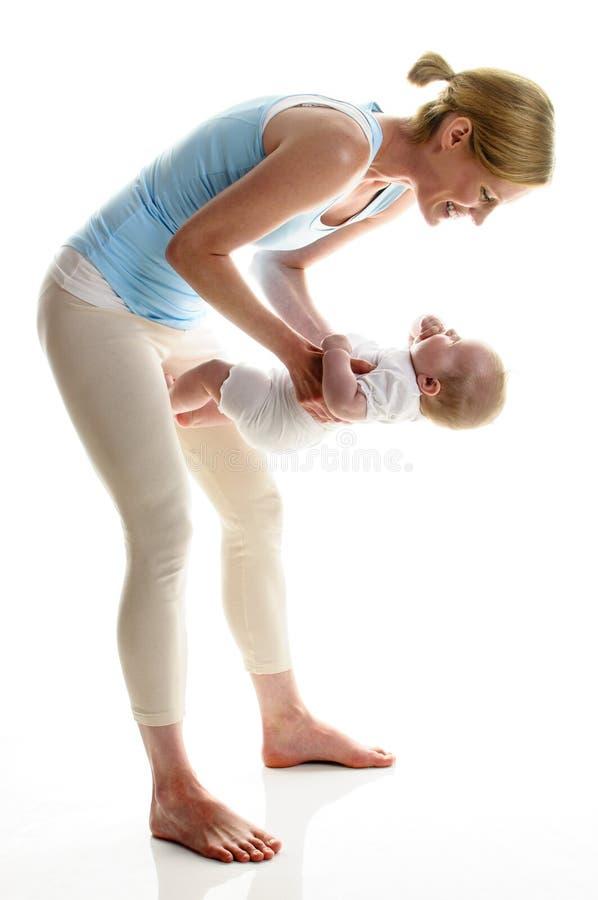 Αθλητισμός μητέρα-παιδιών στοκ φωτογραφίες με δικαίωμα ελεύθερης χρήσης