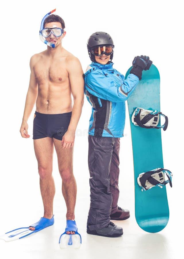 Αθλητισμός χειμώνα και καλοκαιριού στοκ φωτογραφία με δικαίωμα ελεύθερης χρήσης
