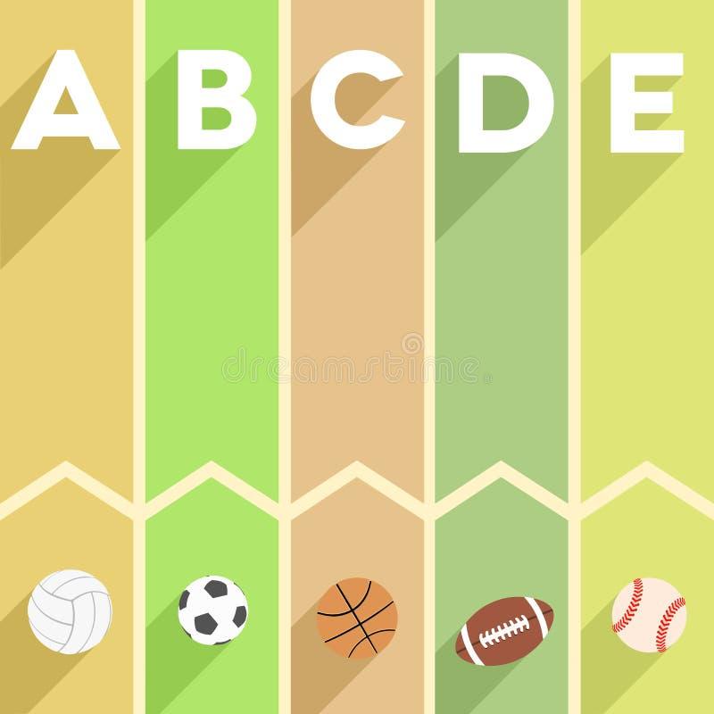 Αθλητισμός infographic ελεύθερη απεικόνιση δικαιώματος