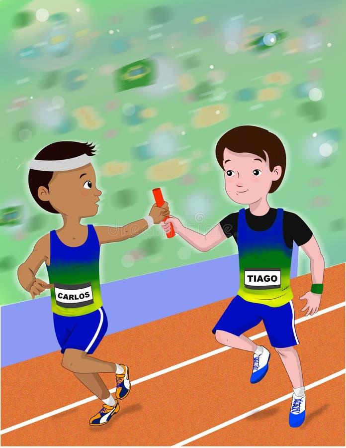 Αθλητισμός 4x100m στοκ φωτογραφίες