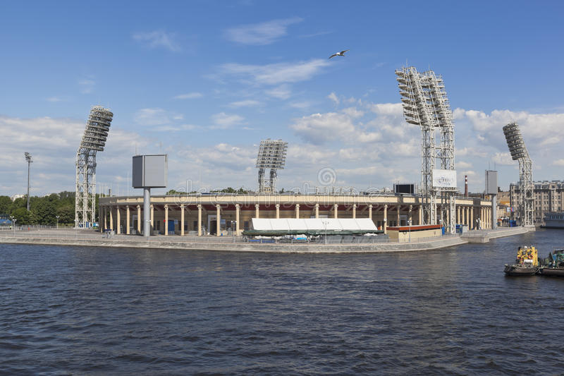 Αθλητισμός Petrovsky σύνθετος στην Άγιος-Πετρούπολη στοκ εικόνες