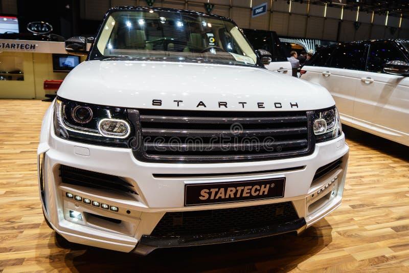 Αθλητισμός Range Rover Startech, έκθεση αυτοκινήτου Geneve 2015 στοκ φωτογραφία με δικαίωμα ελεύθερης χρήσης