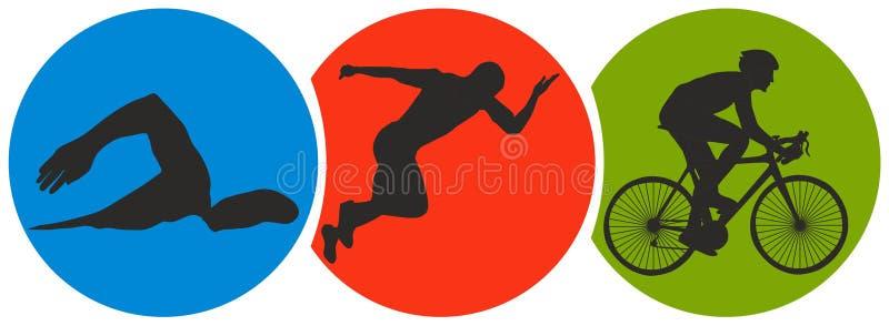 Αθλητισμός Triathlon απεικόνιση αποθεμάτων