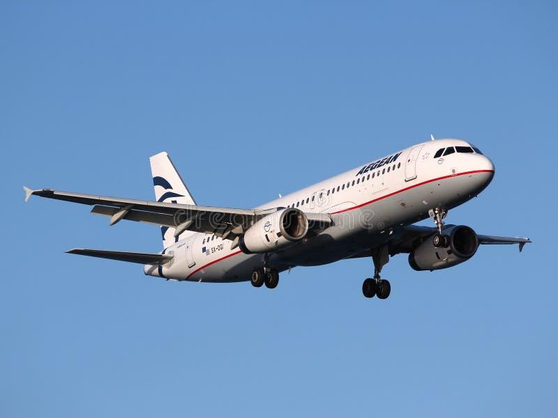 Αιγαίες αερογραμμές στοκ φωτογραφίες με δικαίωμα ελεύθερης χρήσης