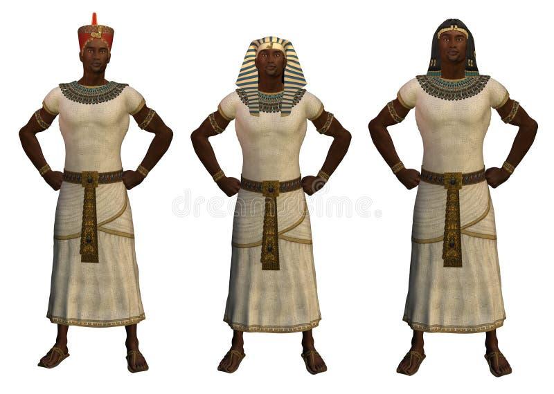 αιγυπτιακά pharaohs διανυσματική απεικόνιση
