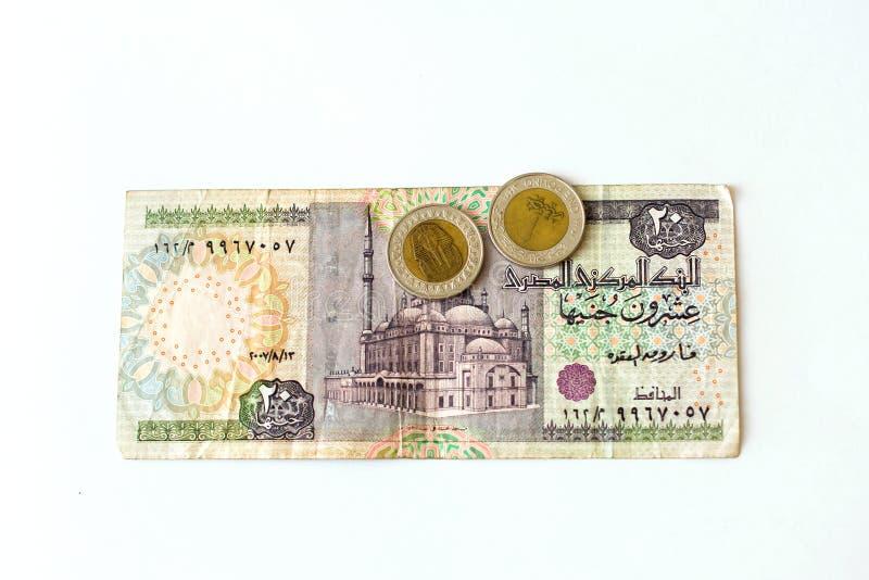 20 αιγυπτιακές λίβρες τραπεζογραμματίων, EGP στοκ εικόνα