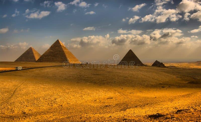 αιγυπτιακές μεγάλες πυ&r στοκ εικόνα