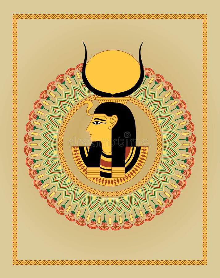 αιγυπτιακή διακόσμηση pharaoh διανυσματική απεικόνιση