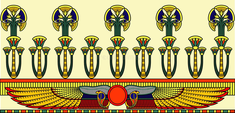 αιγυπτιακή διακόσμηση διανυσματική απεικόνιση