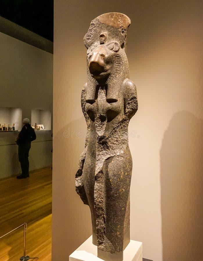 Αιγυπτιακή μυθολογία στο MBAM στοκ εικόνες