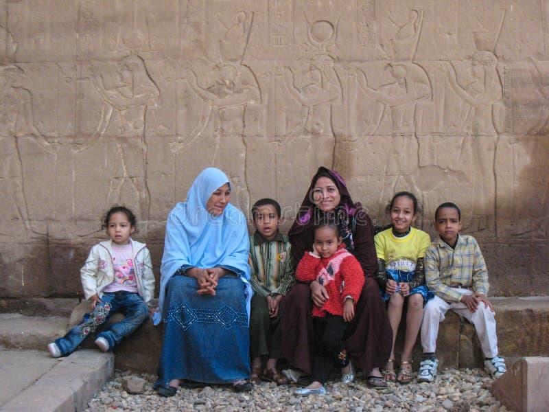 Αιγυπτιακή οικογένεια στοκ εικόνες