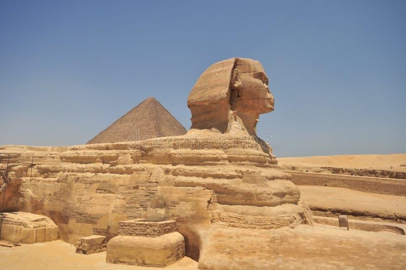 αιγυπτιακή πυραμίδα sphinx στοκ εικόνα