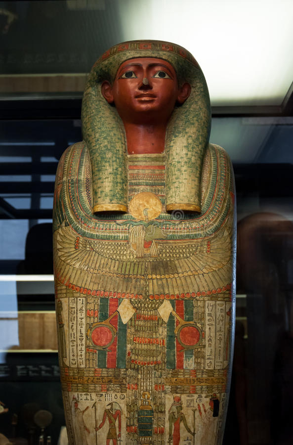 Αιγυπτιακή Σαρκοφάγος Pharaoh στοκ εικόνες