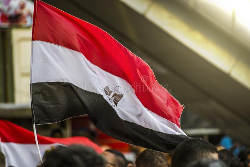 Αιγυπτιακή σημαία στοκ εικόνα