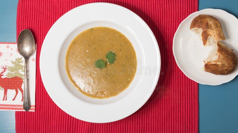 Αιγυπτιακή σούπα φακών στοκ φωτογραφία με δικαίωμα ελεύθερης χρήσης