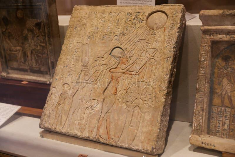 Αιγυπτιακή ταμπλέτα στο αιγυπτιακό μουσείο, Κάιρο, Αίγυπτος στοκ φωτογραφία με δικαίωμα ελεύθερης χρήσης