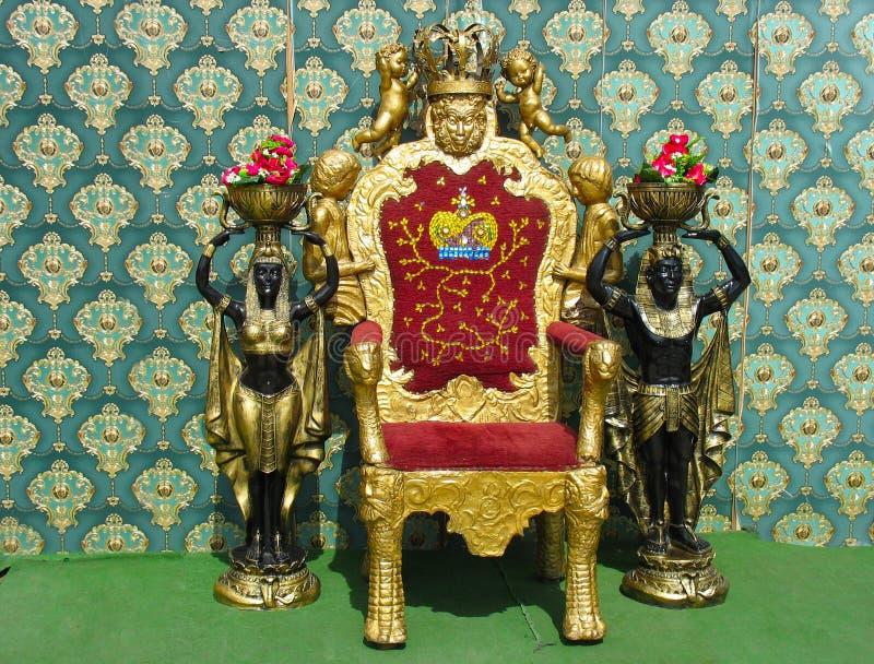 αιγυπτιακός θρόνος δύο π&omic στοκ φωτογραφίες