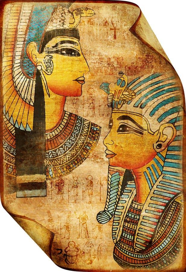 αιγυπτιακός κύλινδρος στοκ εικόνα