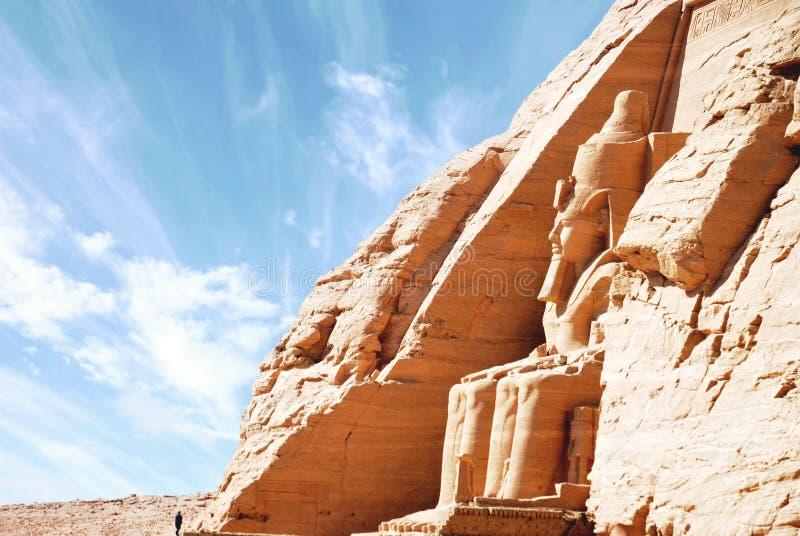Αιγυπτιακός ναός Abu Simbel, Αίγυπτος στοκ φωτογραφία με δικαίωμα ελεύθερης χρήσης