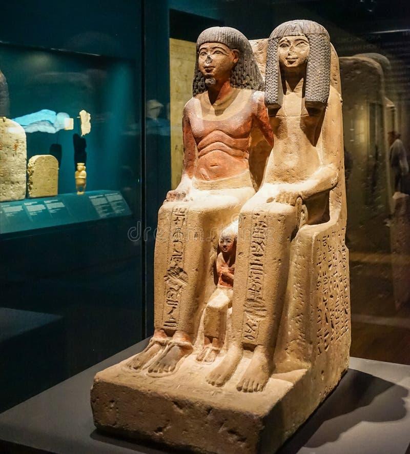 Αιγυπτιακός οικογενειακός τύμβος στο MBAM στοκ φωτογραφία με δικαίωμα ελεύθερης χρήσης