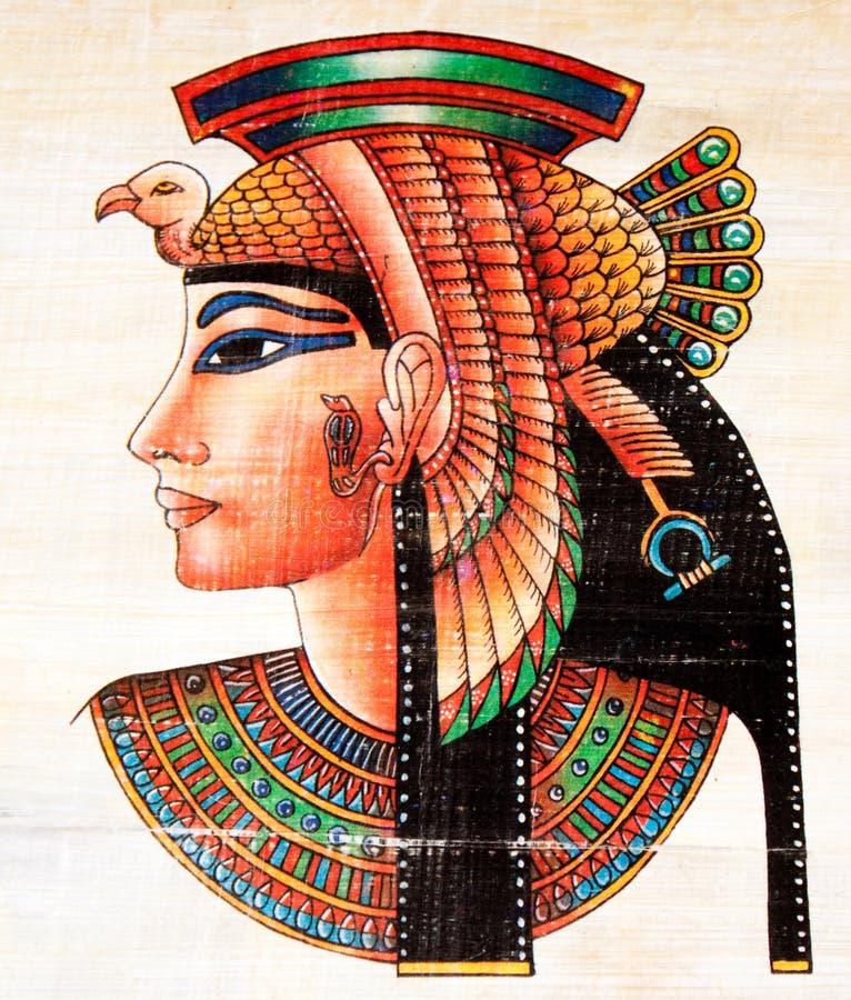 αιγυπτιακός πάπυρος ζωγραφικής στοκ εικόνα με δικαίωμα ελεύθερης χρήσης