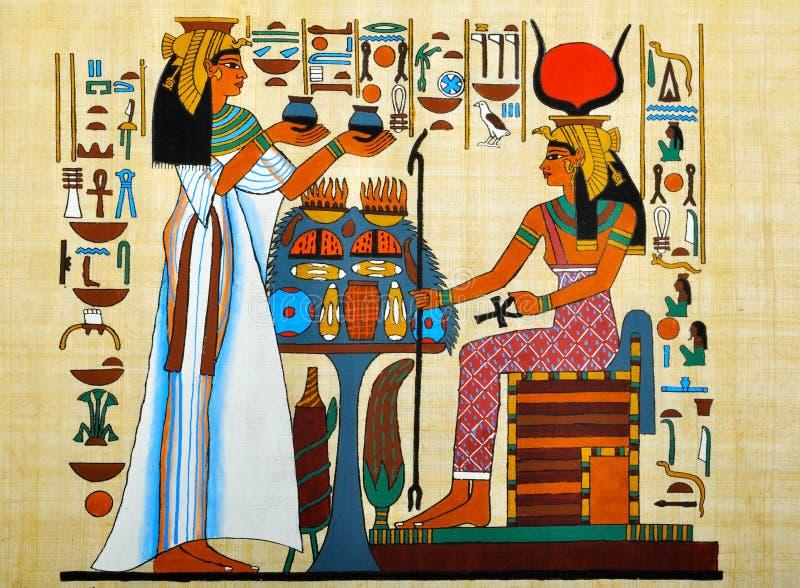 αιγυπτιακός πάπυρος απεικόνιση αποθεμάτων