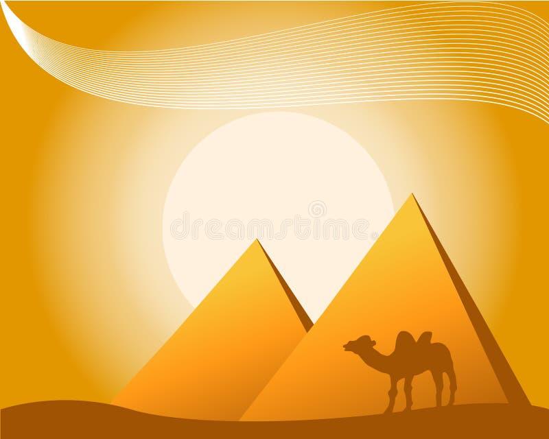 αιγυπτιακό διάνυσμα θέματ απεικόνιση αποθεμάτων