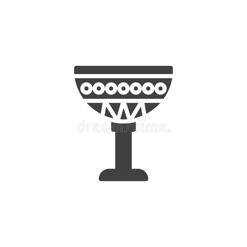 Αιγυπτιακό διανυσματικό εικονίδιο φλυτζανιών διανυσματική απεικόνιση