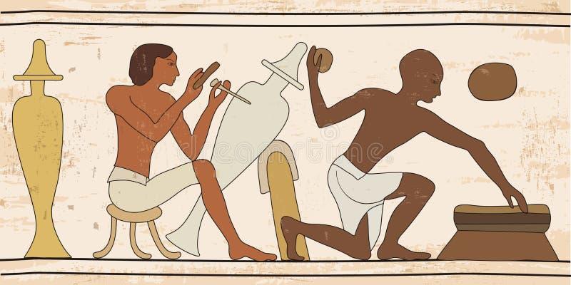 Αιγυπτιακό εθνικό σχέδιο ελεύθερη απεικόνιση δικαιώματος