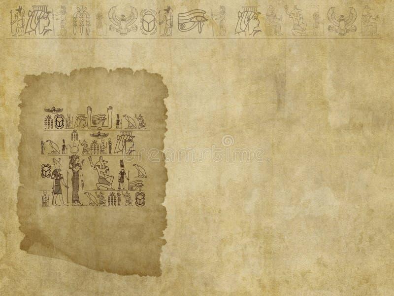 Αιγυπτιακό ιερογλυφικό φόντο στοκ εικόνα