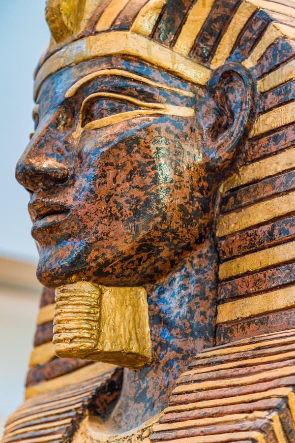 Αιγυπτιακό κεφάλι Σαρκοφάγων στοκ φωτογραφία με δικαίωμα ελεύθερης χρήσης
