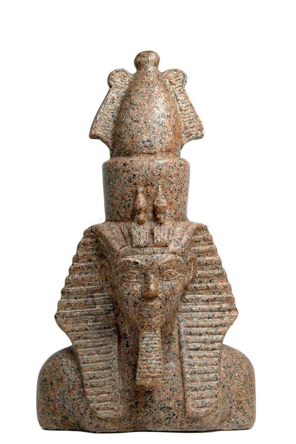 αιγυπτιακό λευκό pharaoh ανασ&k στοκ εικόνες