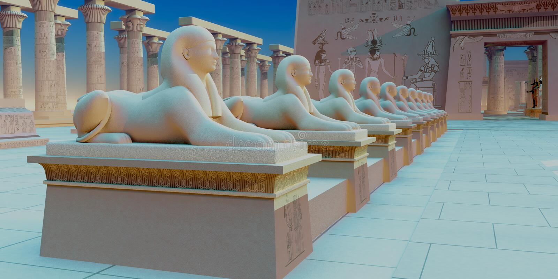 αιγυπτιακό sphinx στοκ φωτογραφία