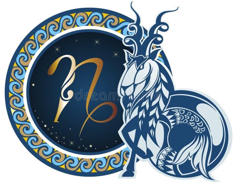 Αιγόκερος υπογράφει zodiac ελεύθερη απεικόνιση δικαιώματος