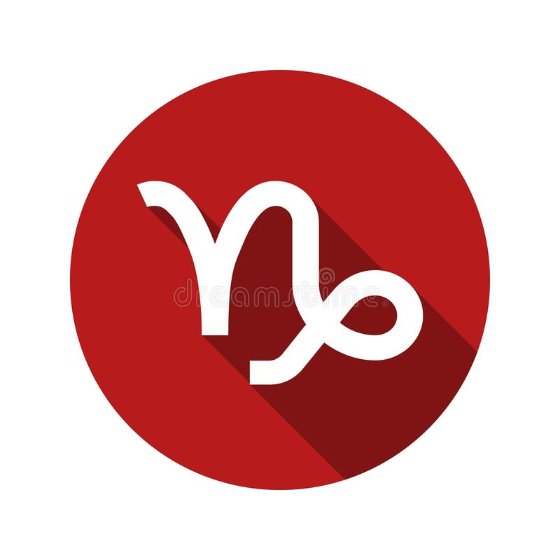 Αιγόκερος, zodiac σημάδι στο επίπεδο ύφος ελεύθερη απεικόνιση δικαιώματος