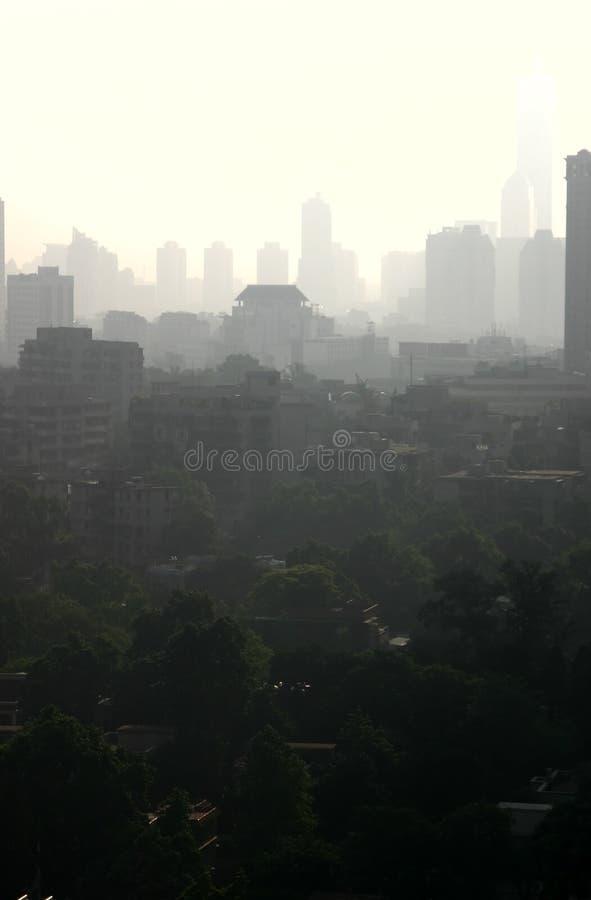 αιθαλομίχλη της Κίνας στοκ φωτογραφία με δικαίωμα ελεύθερης χρήσης