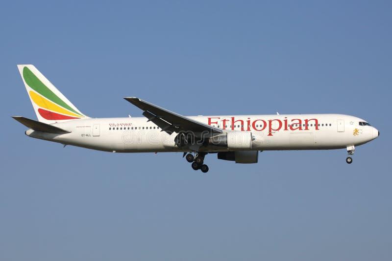 Αιθιοπικές αερογραμμές Boeing 767-300 στοκ εικόνες