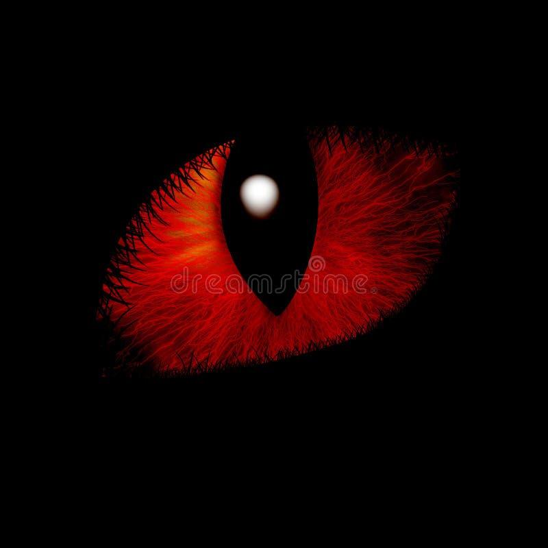 Αιλουροειδές μάτι διανυσματική απεικόνιση