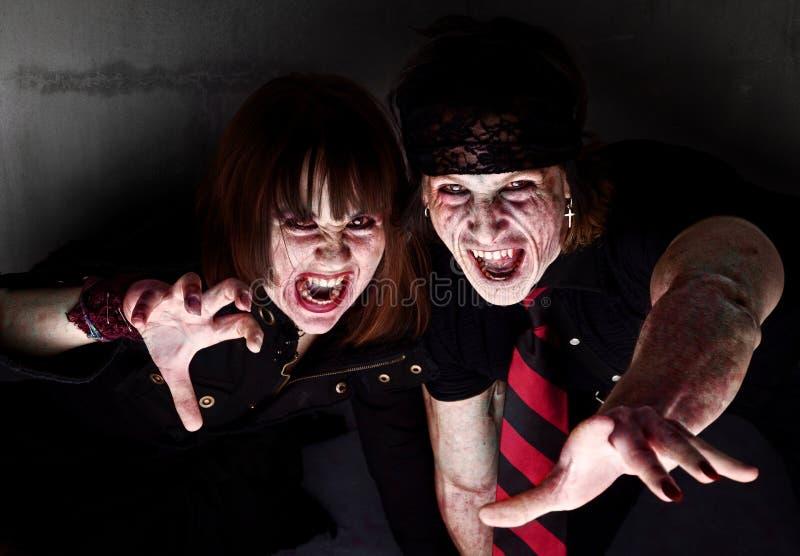 αιματηρά zombies στοκ εικόνα με δικαίωμα ελεύθερης χρήσης