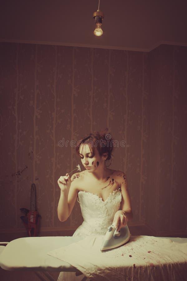Αιματηρή νύφη στοκ φωτογραφία με δικαίωμα ελεύθερης χρήσης