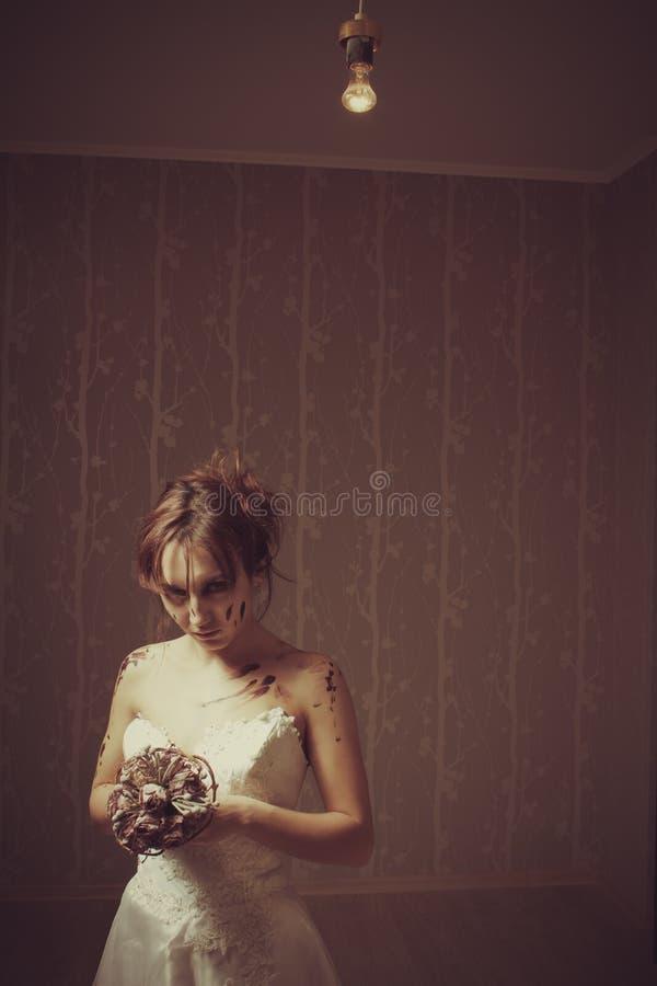 Αιματηρή νύφη στοκ φωτογραφίες