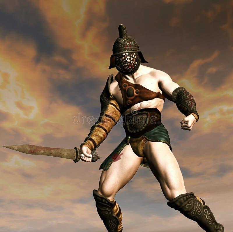 Αιματηρός gladiator διανυσματική απεικόνιση